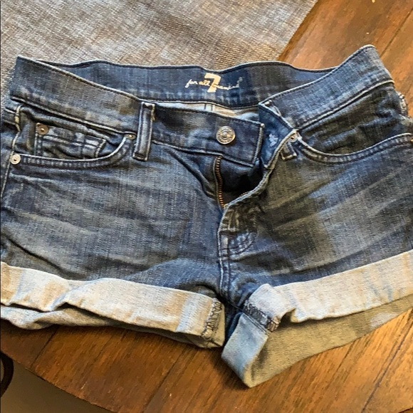 7 For All Mankind Pants - 7 For All Mankind size 26 jean shorts